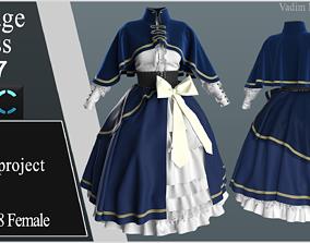 3D model Vintage Dress 7