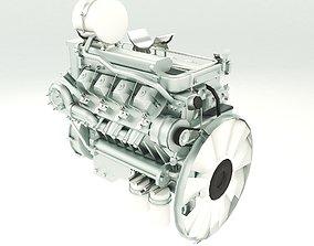 3D model Truck Engine Lowpoly