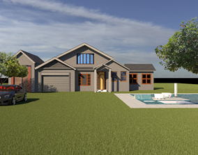 3D model home Exterior