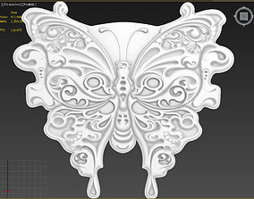 3D model Butterfly Suitable for embossing Hot Foil