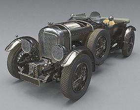 Bentley 4 5 litre Blower 1927 3d model antique PBR