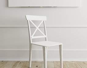 3D asset Chair American Wood - Photorealistic PBR