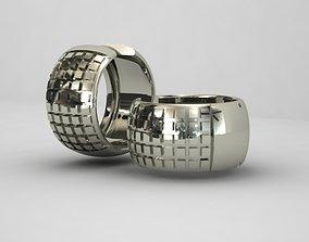 3D printable model Earrings cubes 1mm