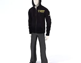 Hoodie on a dummy 3D
