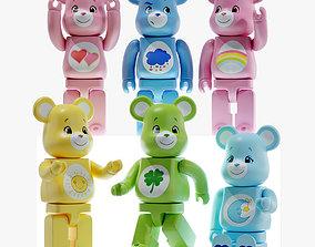Bearbrick Care bear Set 3D
