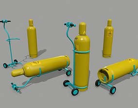 3D model realtime gas cylinder iron