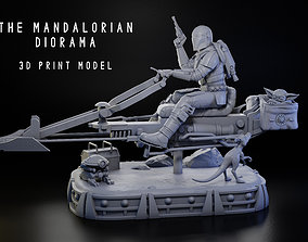The Mandalorian Diorama 1-6 Scale - 3D print model