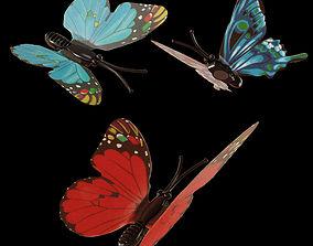 3D asset Magnetic Butterflies