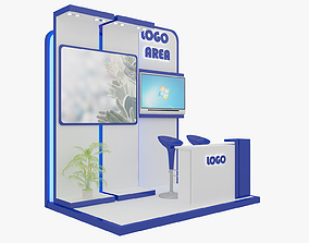 Booth Exhibition Stand 3D model partition