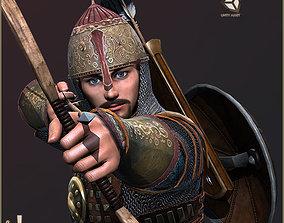 Adam Archer Playable Character 3D asset