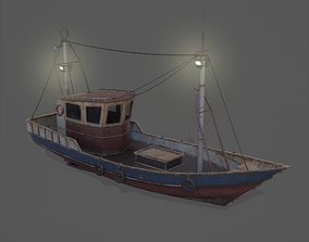 3D model Old Rusted Fishing Boat - PBR and Game-Ready