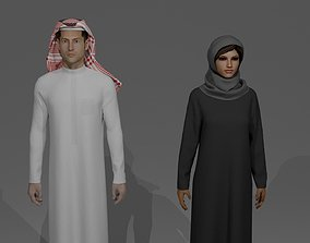 SAUDI ARABIA TRADITIONAL CLOTHING STYLE 3D model