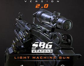 SBG Light Machine Gun 3D model low-poly