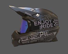 3D asset Motocross Helmet N Goggles