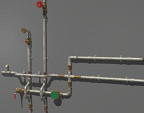 3D asset Metal Water Pipes