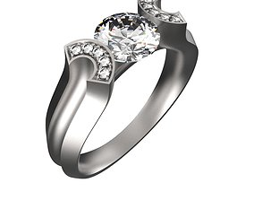 3D printable model Designer Concave Band Ring