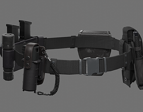 3D asset Police Belt Gear Set