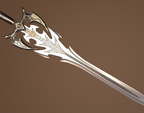 Antique Fantasy Sword - PBR low-poly Model 3D asset