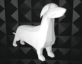 Poly Dachshund 3D asset