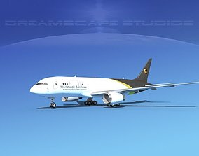3D Boeing 787-8 UPS