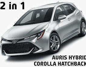 Toyota Corolla Hatchback and Auris 2019 3D