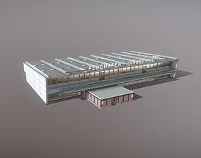 3D asset Airport LOWI Terminal Flughafen Innsbruck
