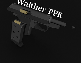 3D asset rigged Walther PPK