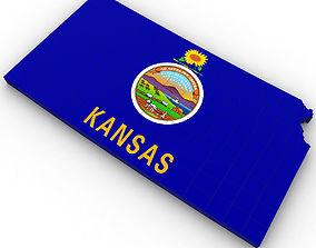 Kansas Political Map 3D model