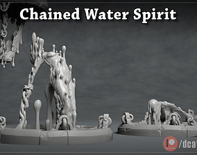 Chained Water Spirit - 3D Printable Character - 2
