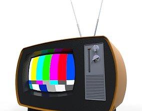 3D model realtime retro tv