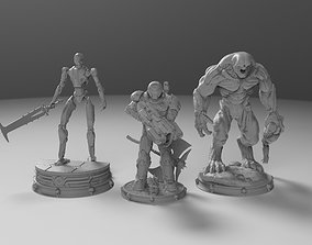 3D model Doom Eternal figure collection