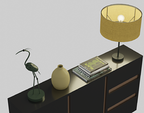 3D asset game-ready sideboard
