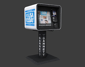 3D model USA Today Newspaper Dispenser