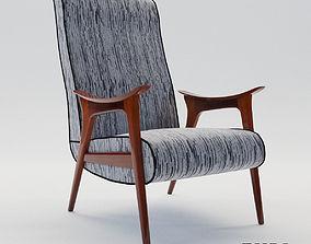 Scandinavian armchair - 1960 - EHRL 3D