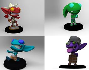 3D printable model Chibi goblin horde