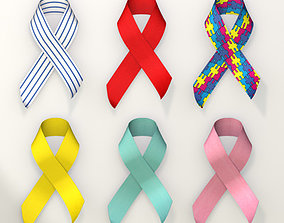 Awareness Ribbon Collection 3D