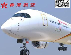 3D model Airbus A350-900 Hong Kong B-LGA livery