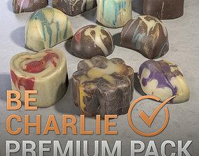 Chocolate Bonbons Pack Photogrammetry Assets 3D model