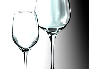 3D model wine glasses crystal