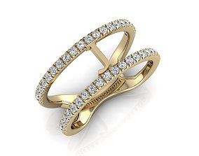 beauty Jewelry Alphabet Ring J 3D printable model