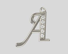 3D print model Pendant letter A design