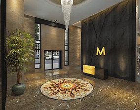 Five Star Hotel Buffet Entrance 3D
