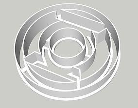 Green Lantern Logo Cookie Fondant 3D printable model