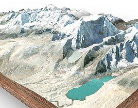Mountain landscape lake 3D