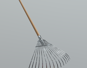 3D model low-poly Rake 2