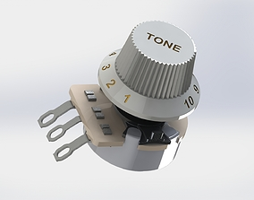 3D model Control Pots for Electric Guitar VOLUME AND TONE