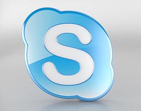 Skype Logo 3D model
