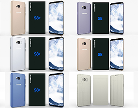3D model Samsung Galaxy S8 and S8 Plus Pack