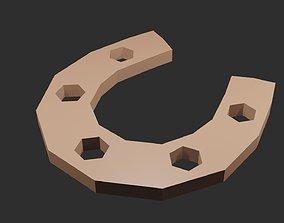 3D asset Low poly Horseshoe
