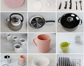 Tableware Assets Pack 3D dishes